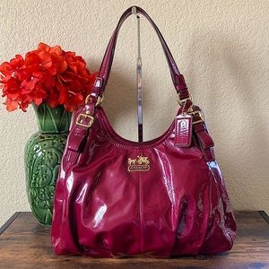LIKE NEW Coach Madison Maggie Patent Hobo